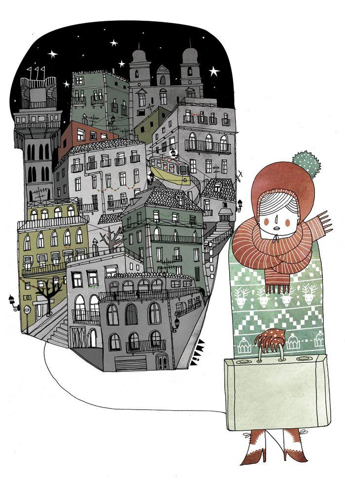 Lisbon-Ling Magazine 2011 - amaia arrazola illustration
