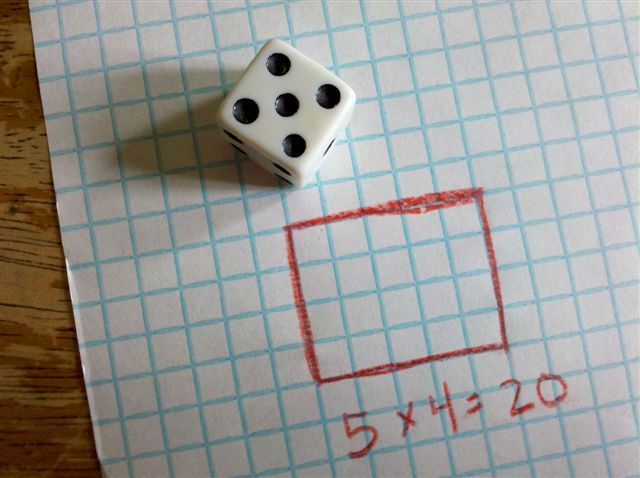 multiplication math game or a way of teaching arrays on graph - math graph paper