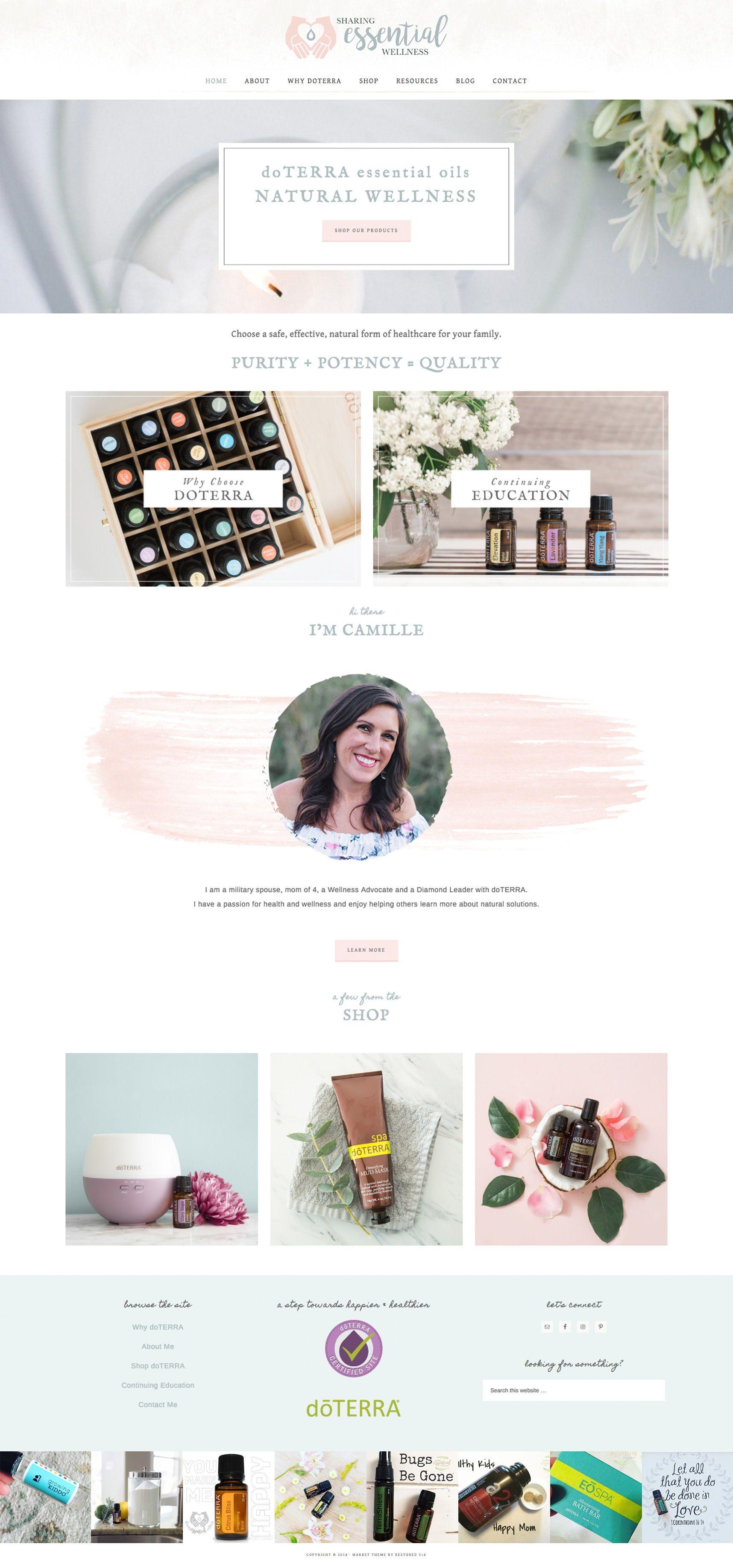 Doterra Leader Branding And Web Design Feminine Wordpress Websites For Women Entrepreneurs By Girlboss Designer Fea Web Design Branding Online Shop Design