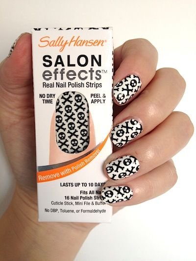 Makeup Review Swatches Sally Hansen Salon Effects Real Nail Polish Strips Great Halloween Looks Beautystat Com Sally Hansen Salon Effects Sally Hansen Nails Sally Hansen