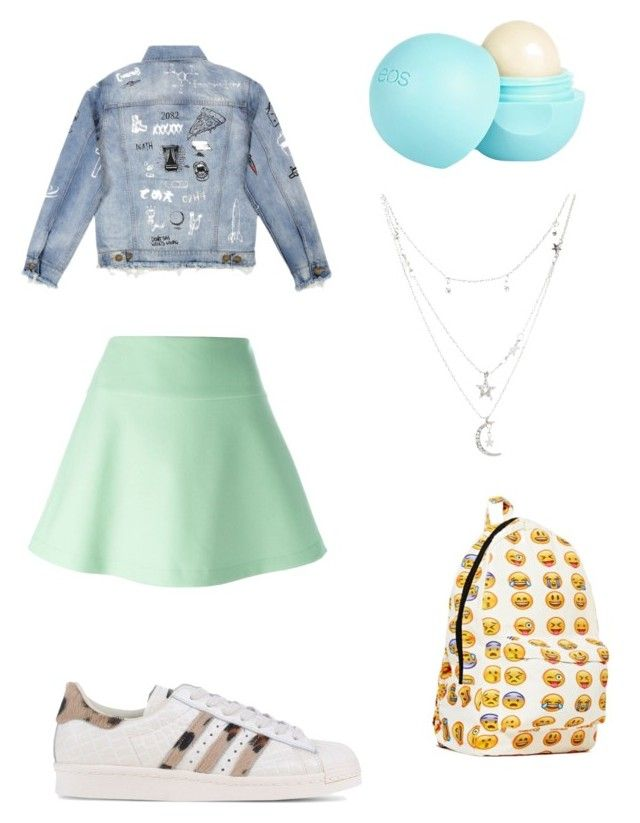 """""""My First Polyvore Outfit"""" by yasminhekkert ❤ liked on Polyvore featuring RED Valentino, adidas Originals, River Island and Charlotte Russe"""