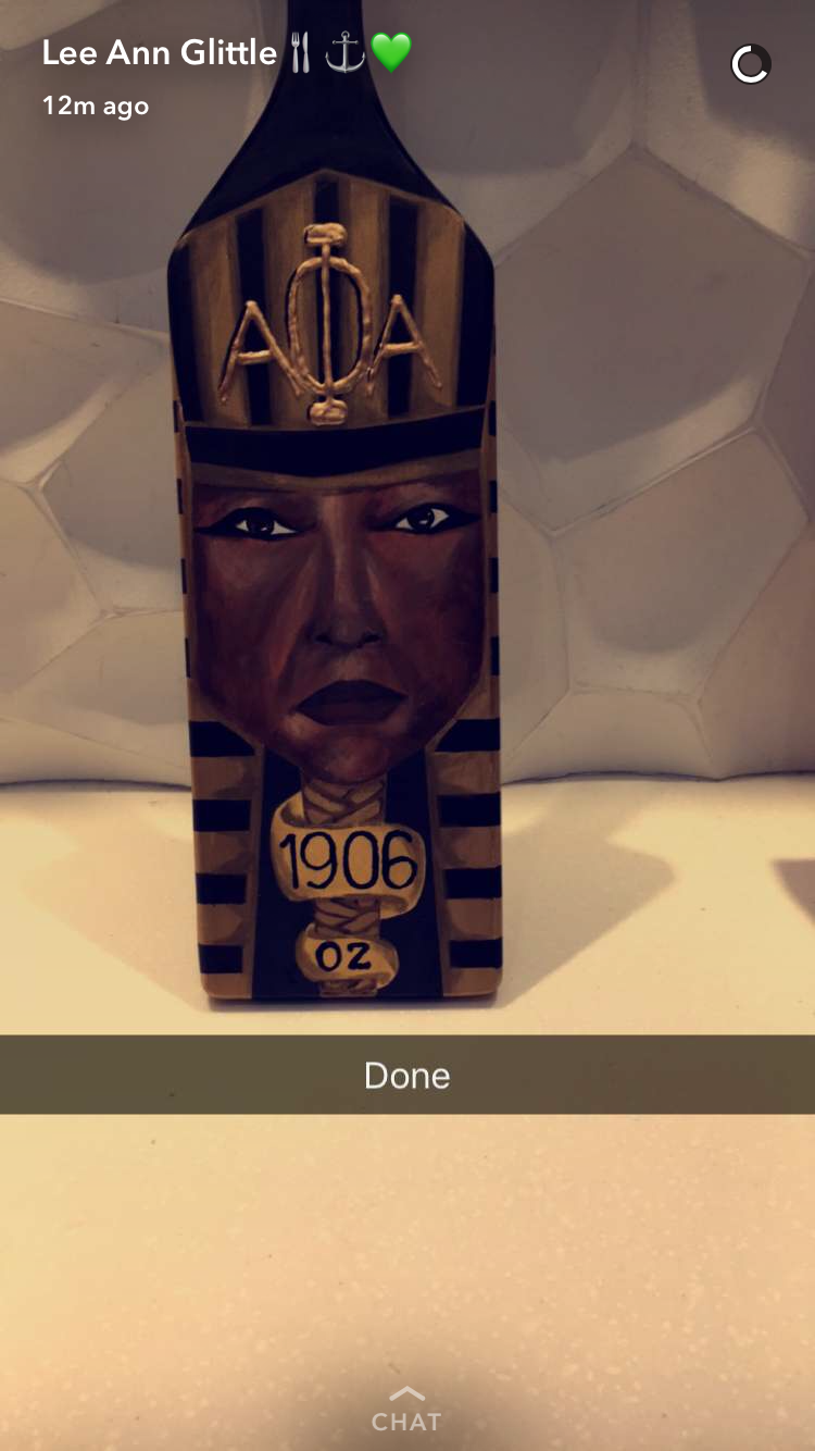 My G little made this beautiful Alpha Phi Alpha paddle