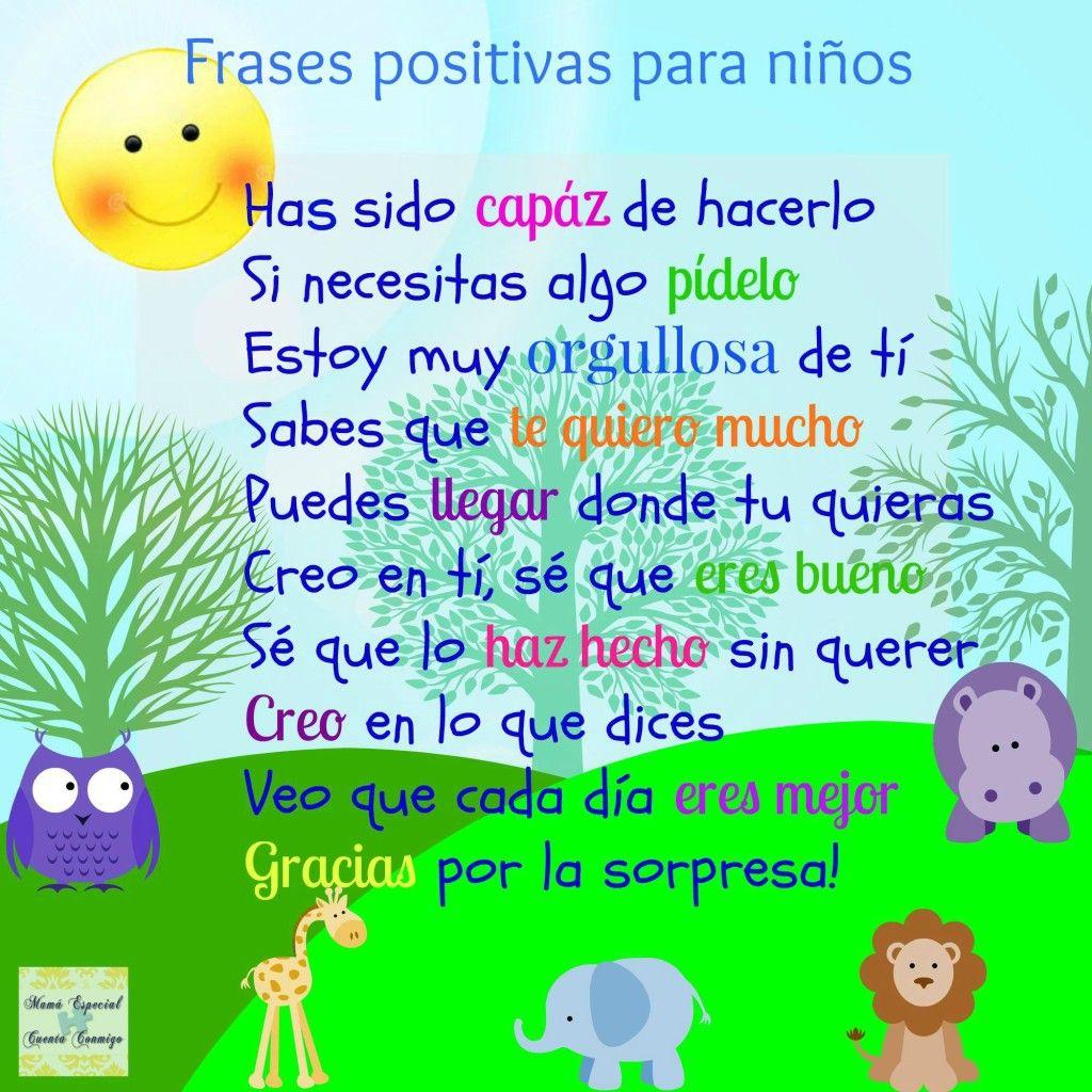 10 Frases Positivas Para Niños Frases Positivas Para Niños