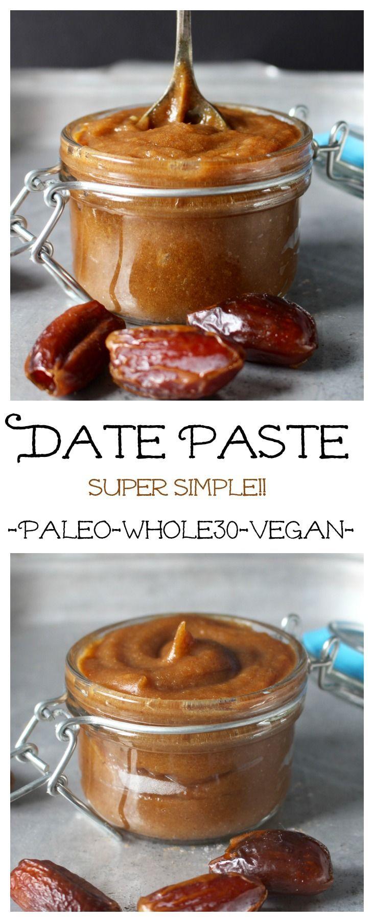 Date Paste Paleo Whole30 Vegan