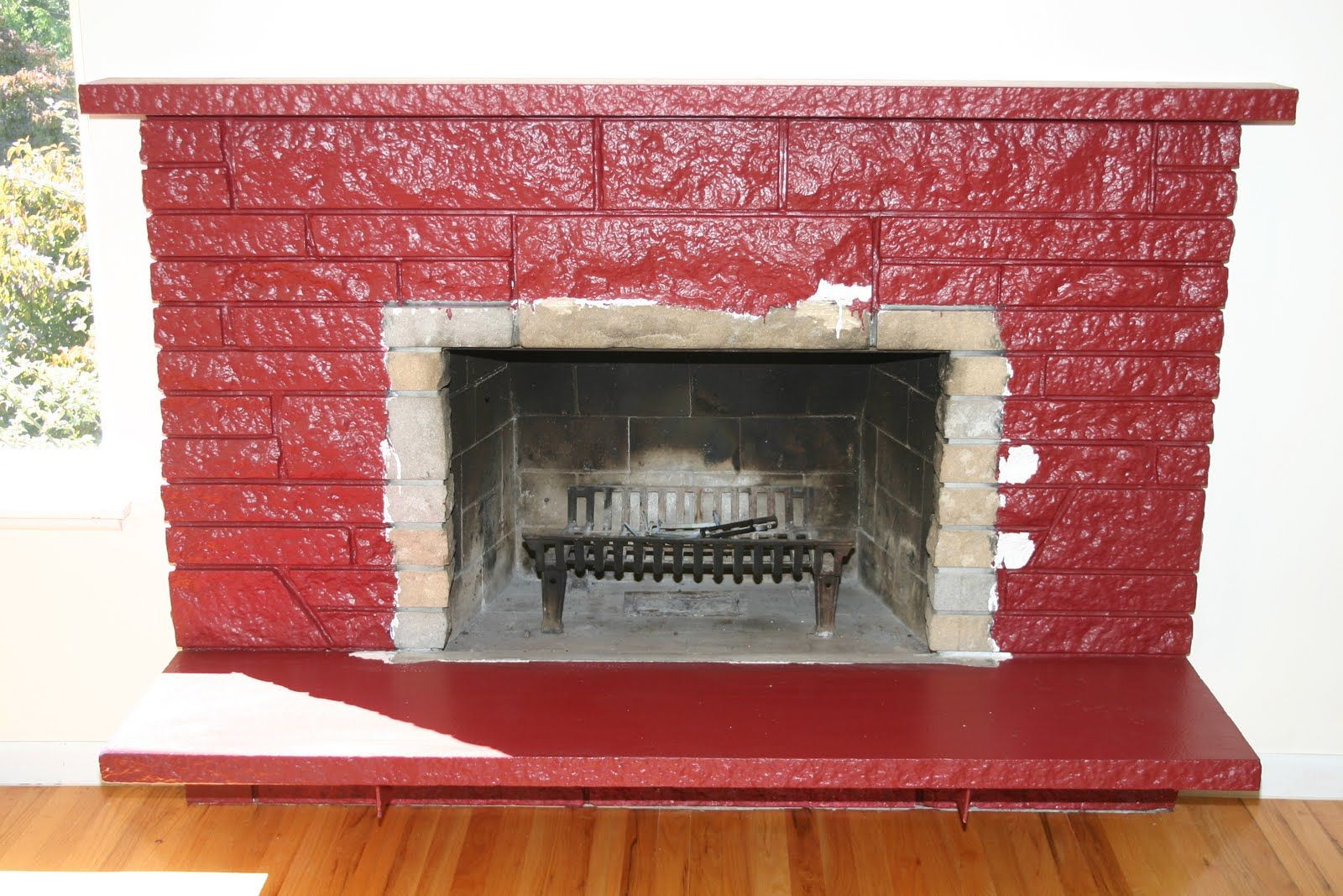 try Restoring a painted stone fireplace! | Fireplaces | Pinterest | Stone fireplaces