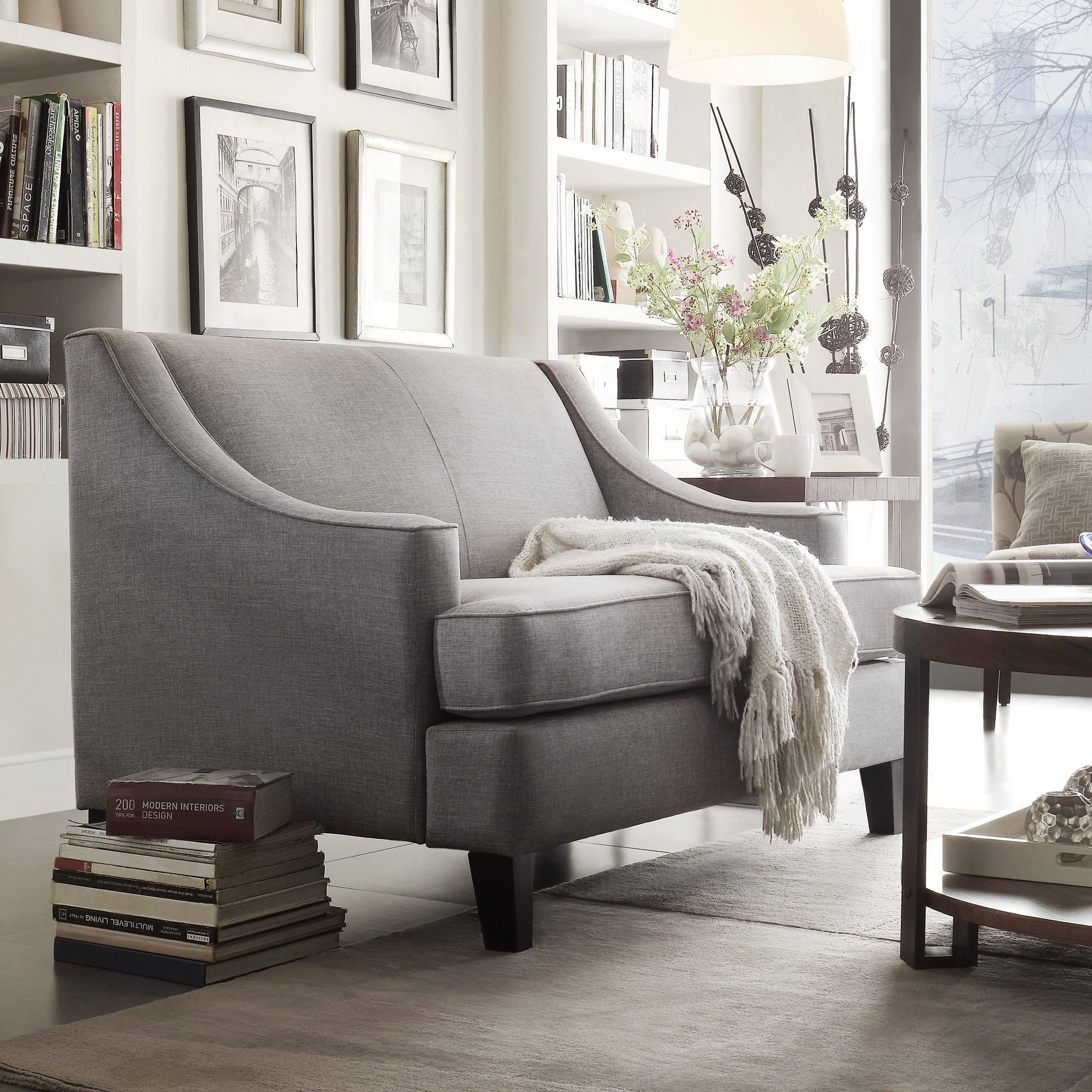 Winslow Concave Arm Modern Loveseat by iNSPIRE Q Bold by iNSPIRE Q