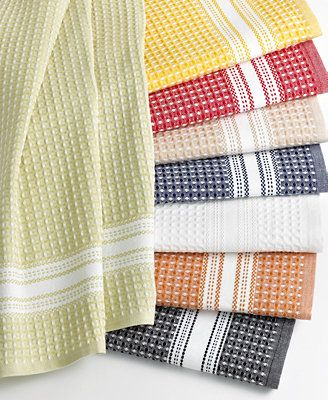 Martha Stewart Collection Waffle Weave Kitchen Towels With Images
