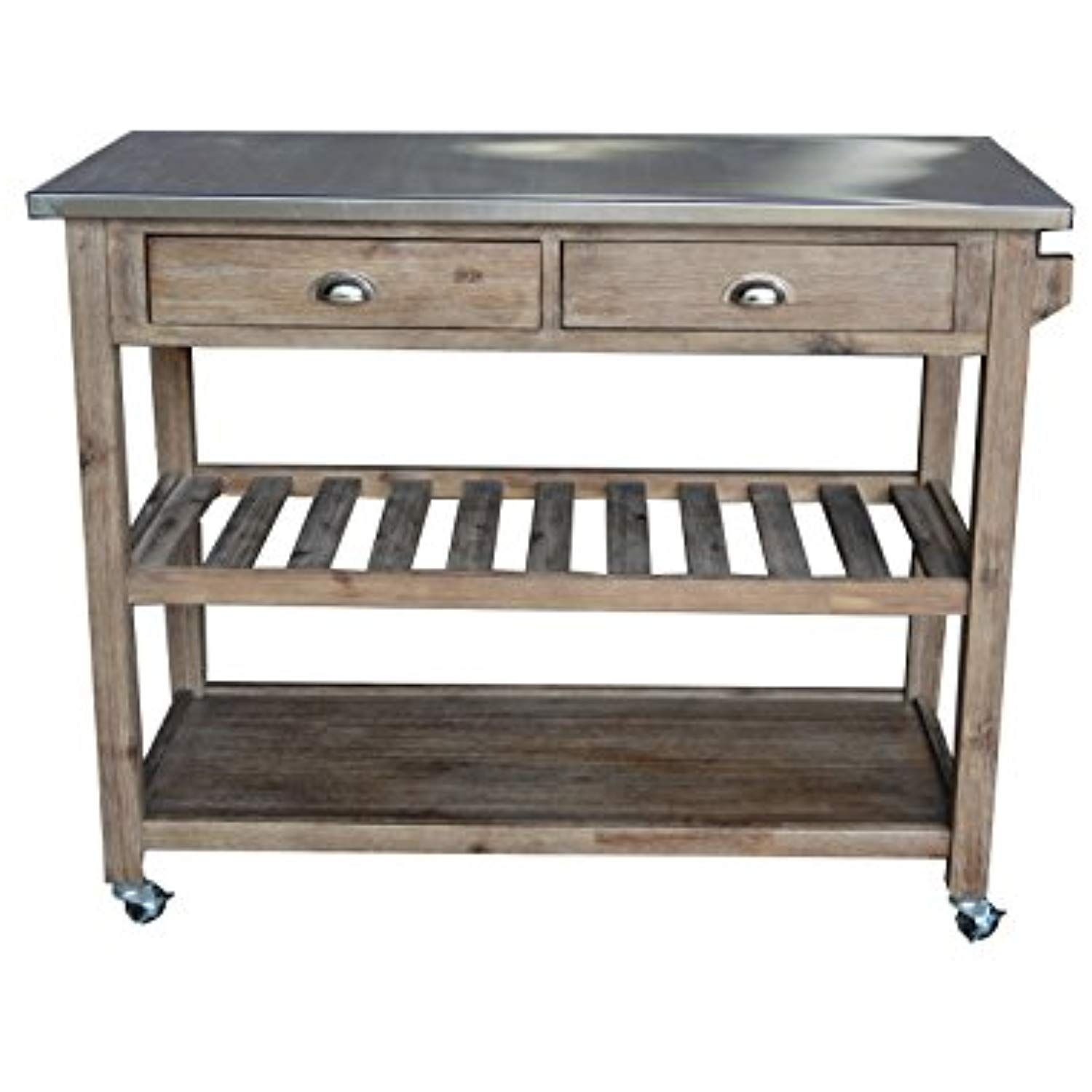 Boraam sonoma wirebrush kitchen cart ueueue you can get more