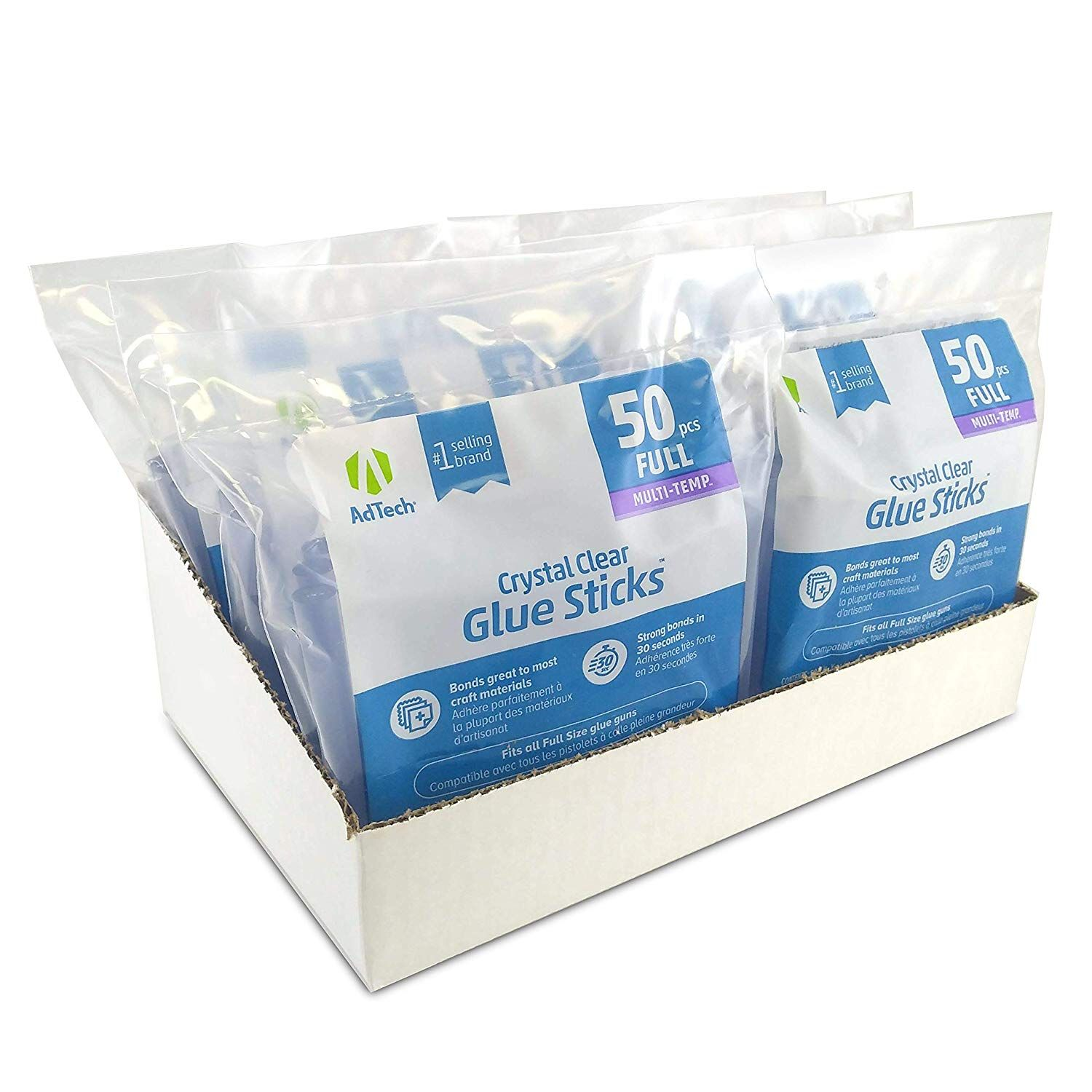 Adtech 14zip50 Case Full Size Multi Temp Clear Bulk Glue Sticks 4 Inch Length 300 Pieces Details Can Be Found By Clicking On The Glue Stick Craft Supplies