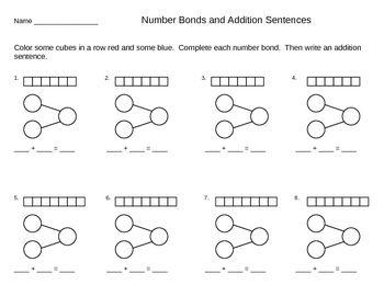 addition number bond templates and ideas singapore math teaching printables singapore math. Black Bedroom Furniture Sets. Home Design Ideas