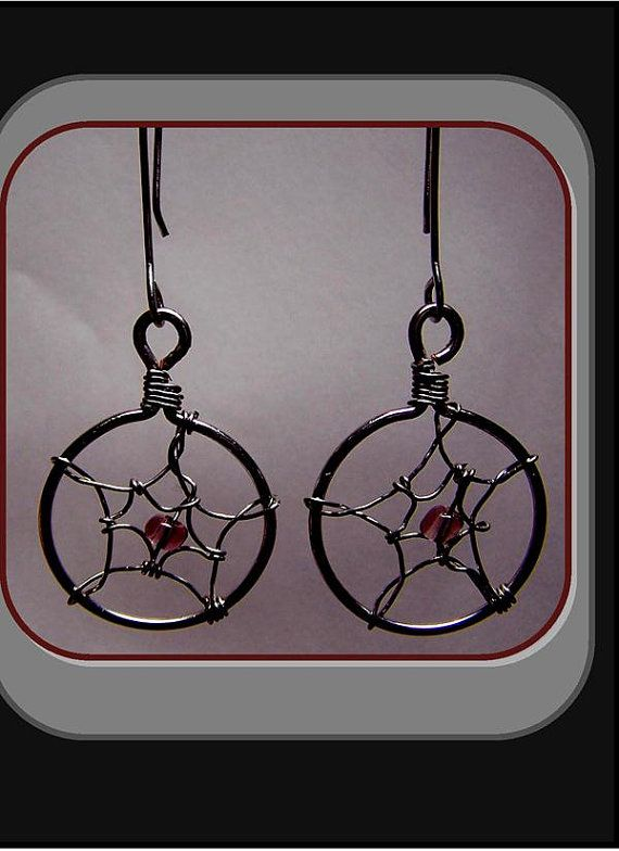 Artistic Metalwork Wire & Gem Dream catcher by RosesWireArtJewelrY, $20.00