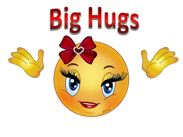 Hug smiley emoji