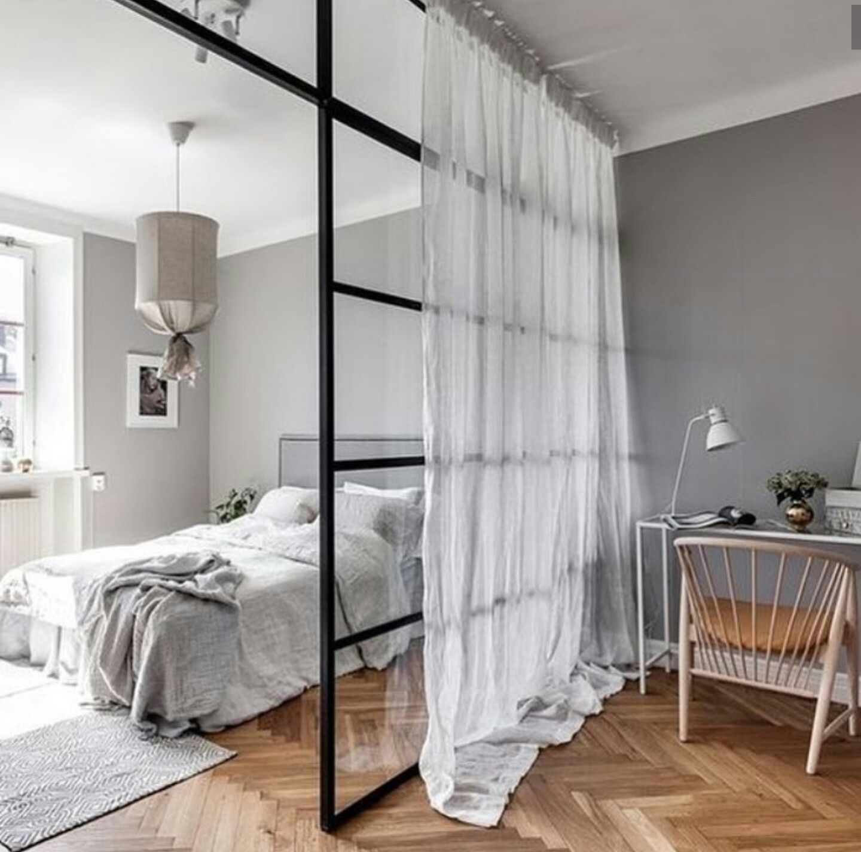 Separer Une Chambre D Un Salon une grande verrière pour séparer la chambre du salon   deco