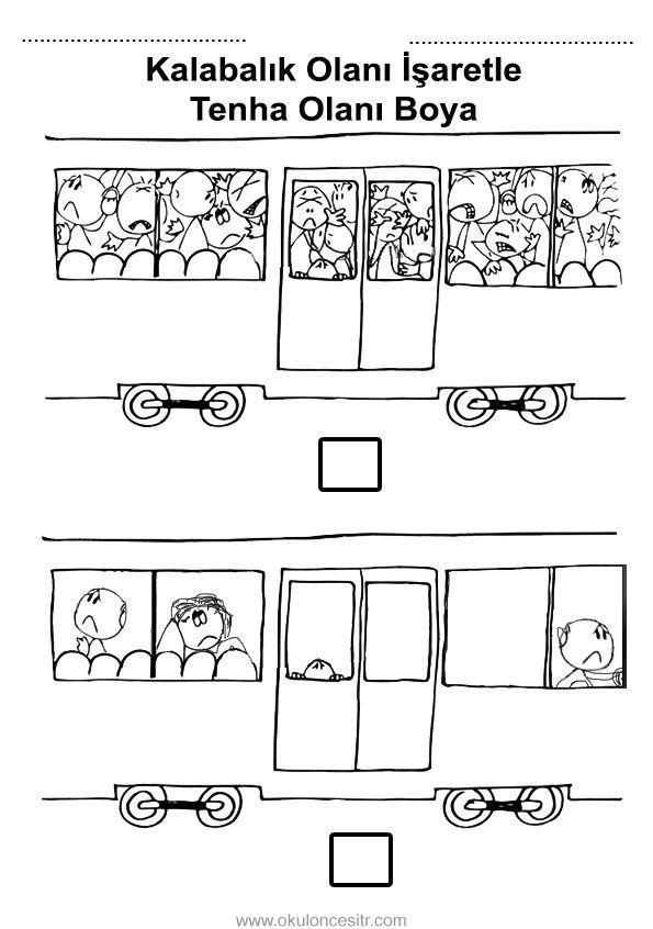 Kalabalık Tenha Kavramı | çalışma sayfası | Pinterest | School