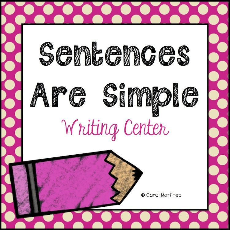 Quick and easy Writing Center, focusing on basic sentence structure.  Beginning of school must! $