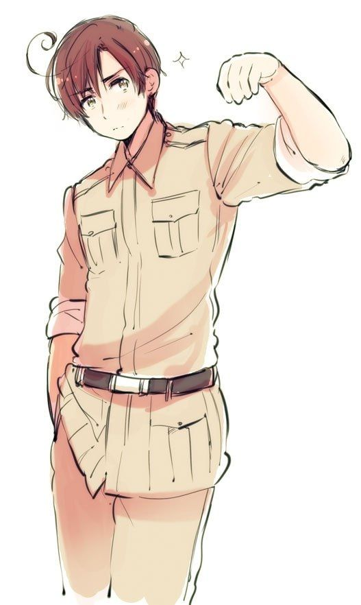 Day 3: Character you'd date- this took a LONG time to decide, but I'd totally date Romano!