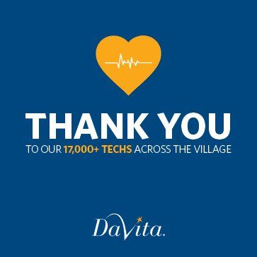 Happy Dialysis Technician Recognition Week! Thank you to all