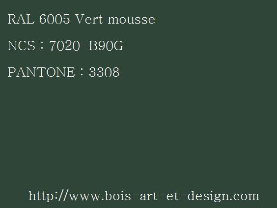 ral 6005 vert 564 423 codes ral codes ncs codes pantone 207 r f rences. Black Bedroom Furniture Sets. Home Design Ideas