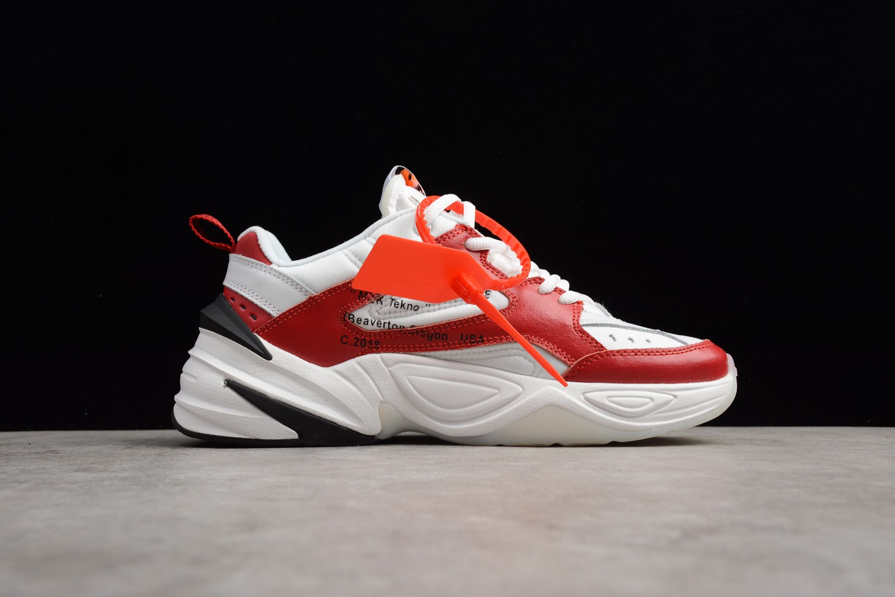 quality design 5ef7c 669d5 Latest OFF-WHITE x Nike M2K Tekno Red White Black A03108-060