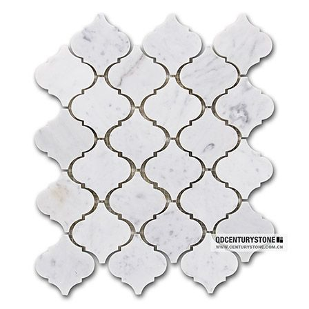Polished Carrara Marble Lantern Shape Mosaic Backsplash Tiles Wholesale ,  Find Complete Details about Polished Carrara