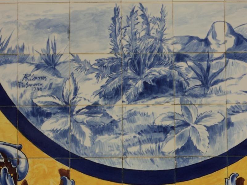 Matadouro do Sobral de Monte Agraço. Painéis fabricados na Fábrica de Loiça de Sacavém.