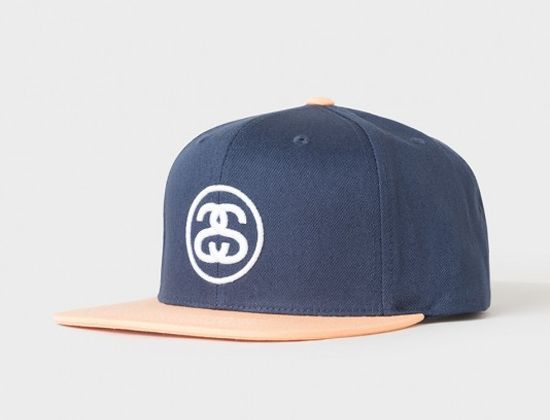 2bc31f0f3 SS-Link SU17 Navy Snapback Cap by STUSSY | Aaron Style | Stussy ...