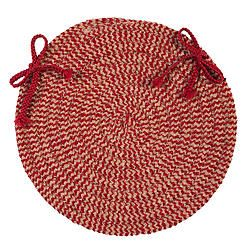 Softex Check Red & Tan Round Chair Pad