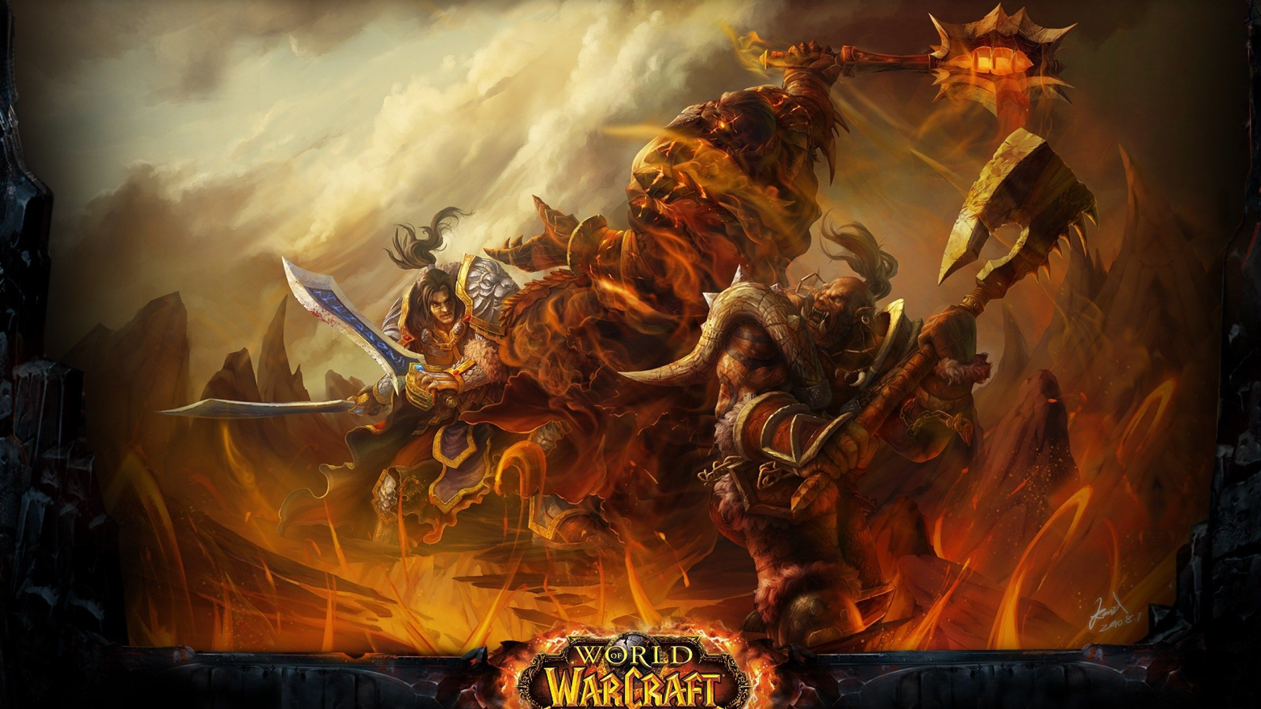 Wow Cataclysm World Of Warcraft Battle 2560x1440 World Of