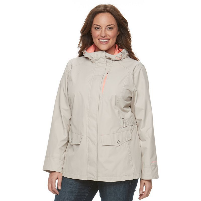 312380653ae Plus Size Free Country Radiance Hooded Rain Jacket