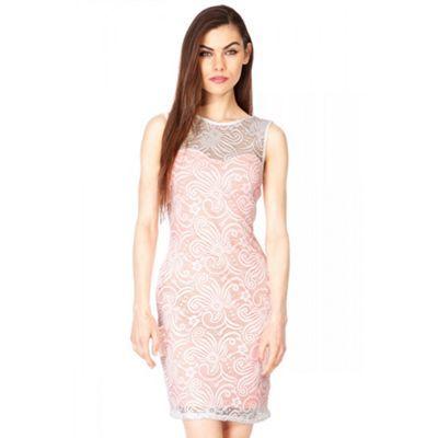 Quiz Cream And Coral Lace Dress- at Debenhams.com