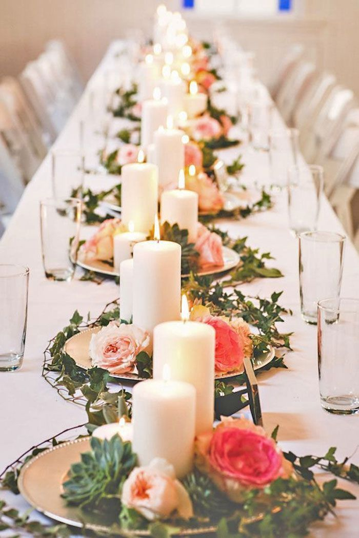 Elegant Simple And Inexpensive Wedding Centerpieces Candle
