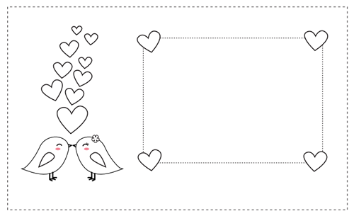Tarjetas de San Valentín para colorear | Valentines | Pinterest ...