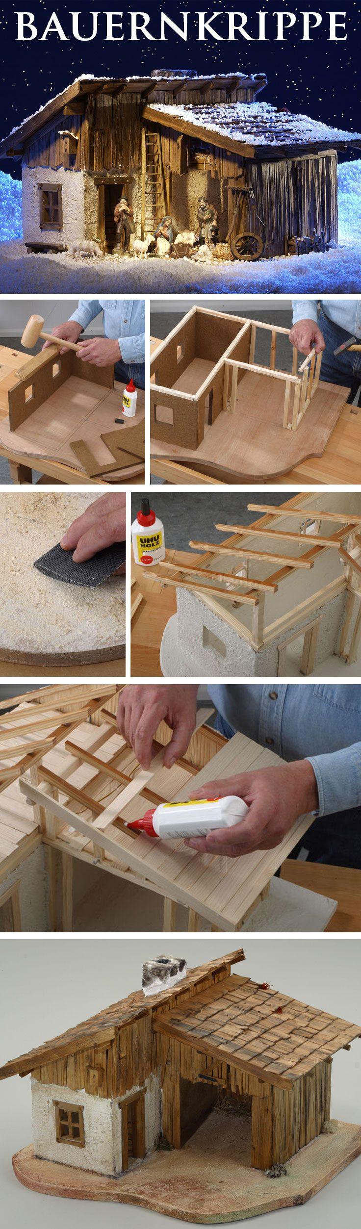 bauplan bauern krippe selbst bauen auszeichnen und. Black Bedroom Furniture Sets. Home Design Ideas