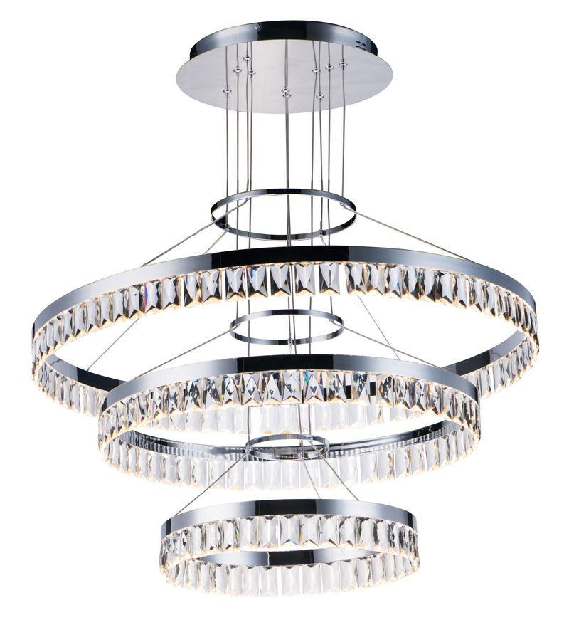 Maxim Lighting Icycle 31 5 X 3 Chandelier W 1 Light In Polished Chrome Stainless Steel Steel Glass In 2020 Chrome Pendant Lighting Maxim Lighting Polished Chrome