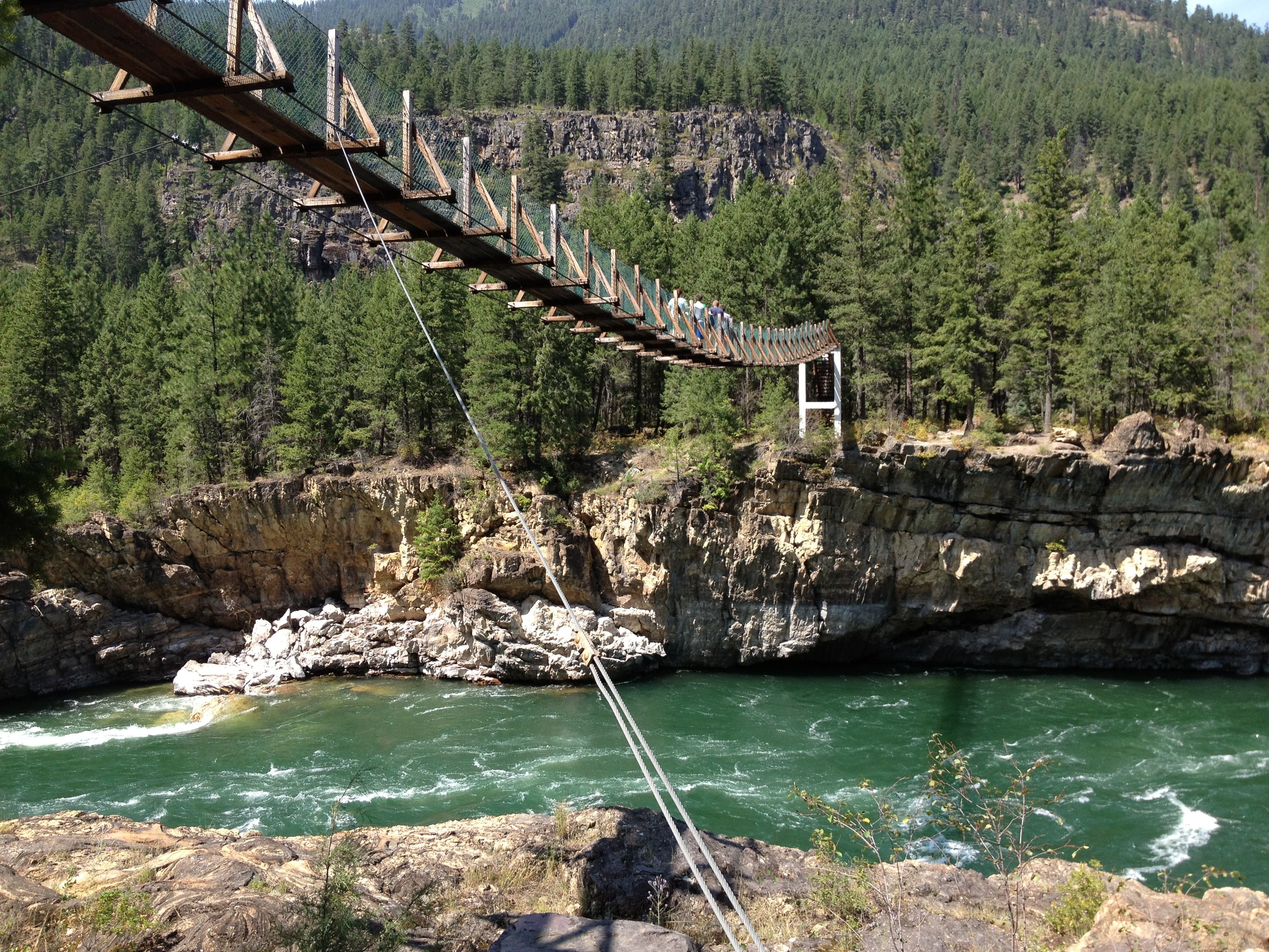 Swinging bridge in montana