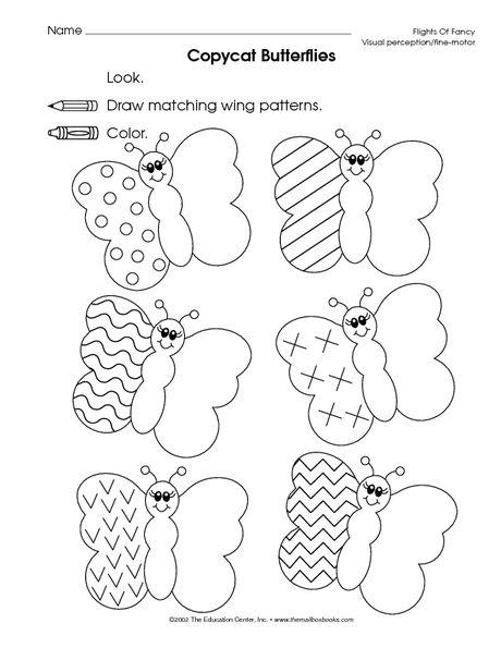 copy butterfly patterns fine motor skills tracing pinterest. Black Bedroom Furniture Sets. Home Design Ideas