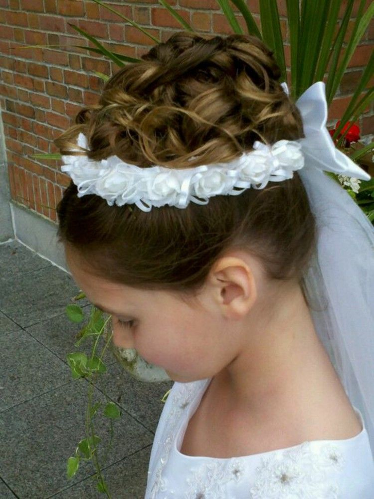 Updo Hairstyles Girls Communion Hairstyles Pictures Communion Hair Pieces Communion Hairstyles First Communion Hairstyles