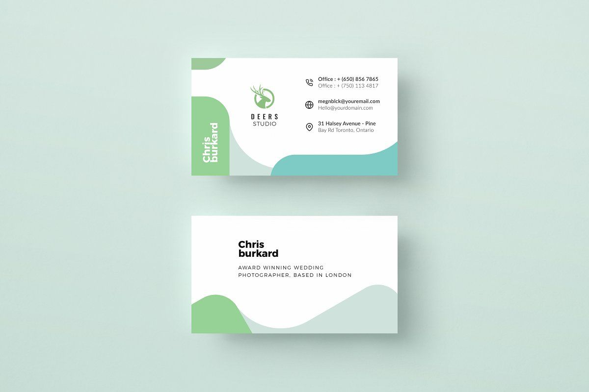 Corporate Business Card Template Professional Business Cards Templates Clean Business Card Design Business Cards Creative Templates