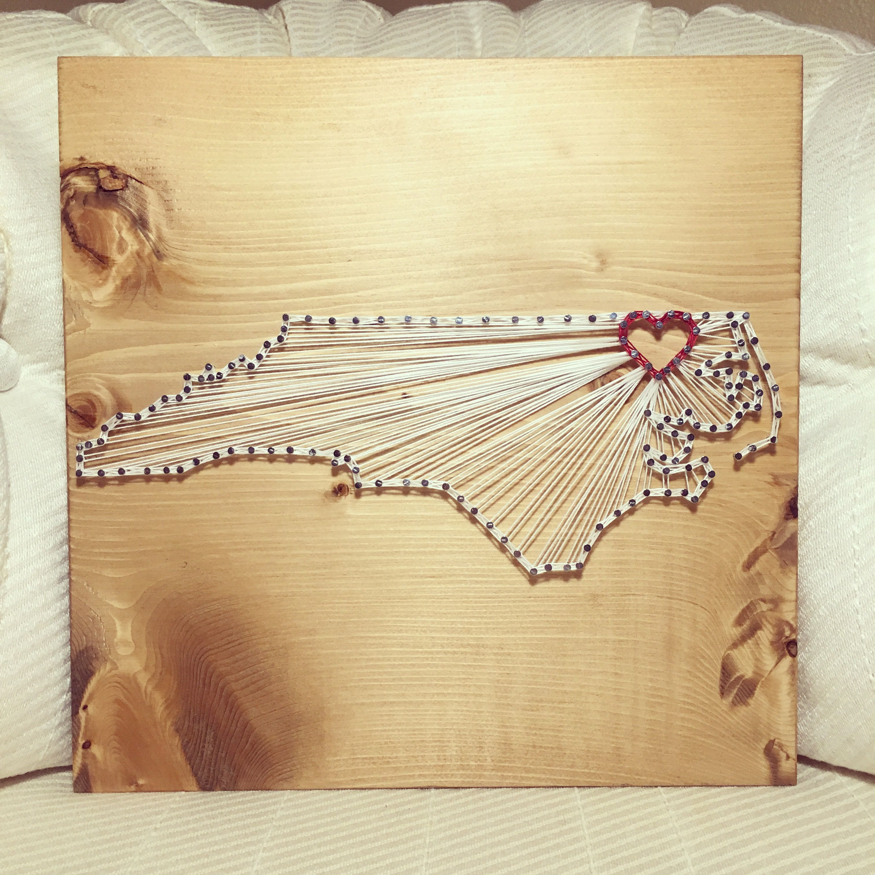 CUSTOM State/Country String Art Sign, Moving gift, Graduation ...