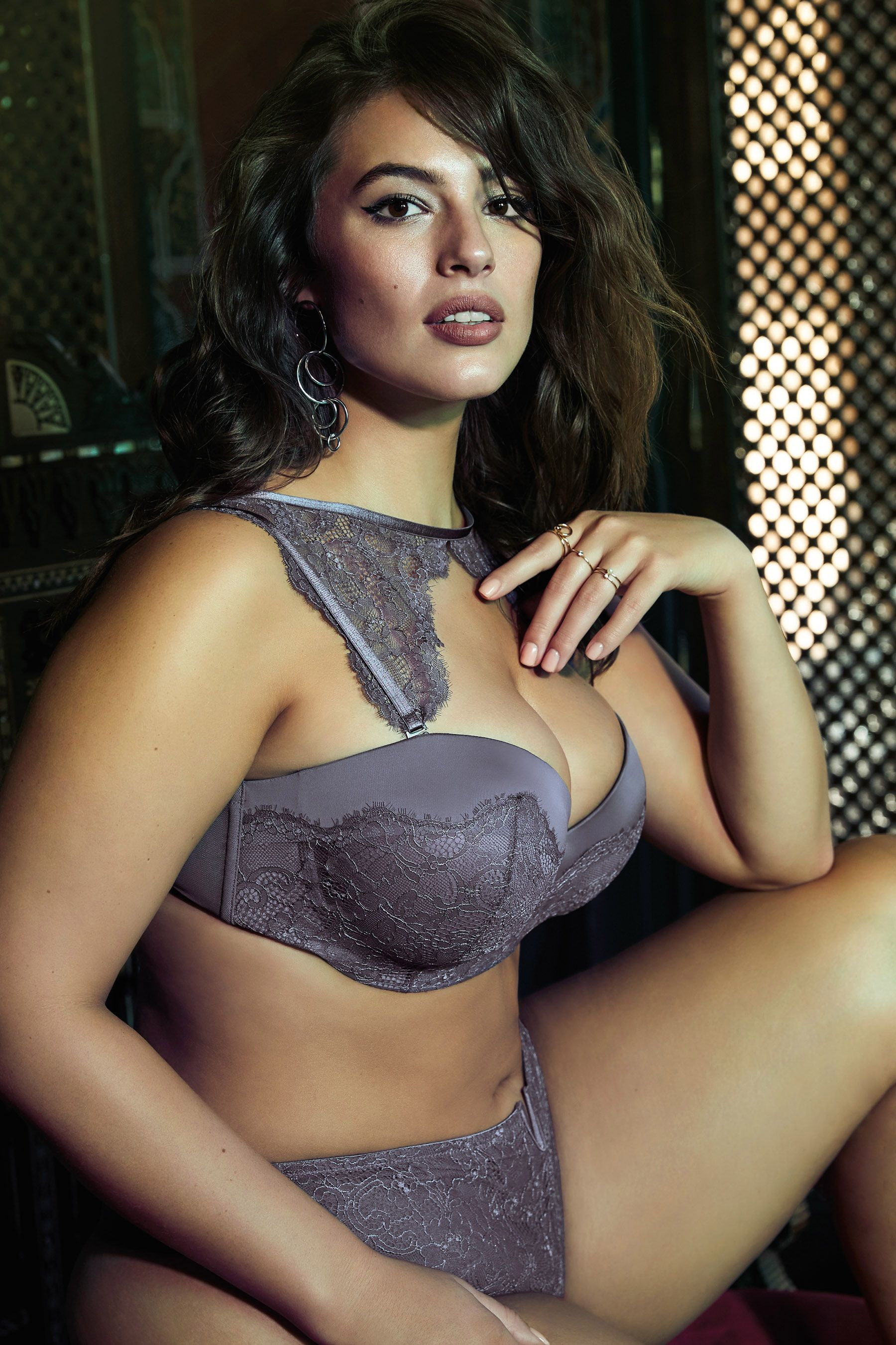 832076c29 Ashley Graham - Lingerie Photoshoot for Addition Elle 2017 - Celebzee