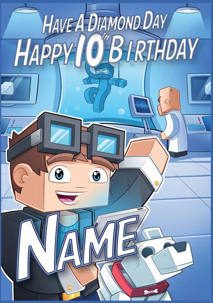 ROBLOX Personalised Birthday Card FAST 1st Class Shipping Premium quality.