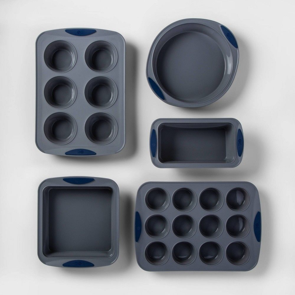 5pc Silicone Bakeware Set Made By Design Gray Silicone