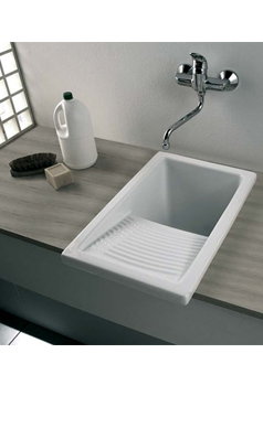 Clearwater Small White Ceramic Laundry Sink 395 X 610mm Sink Laundry Sink Small Laundry Sink