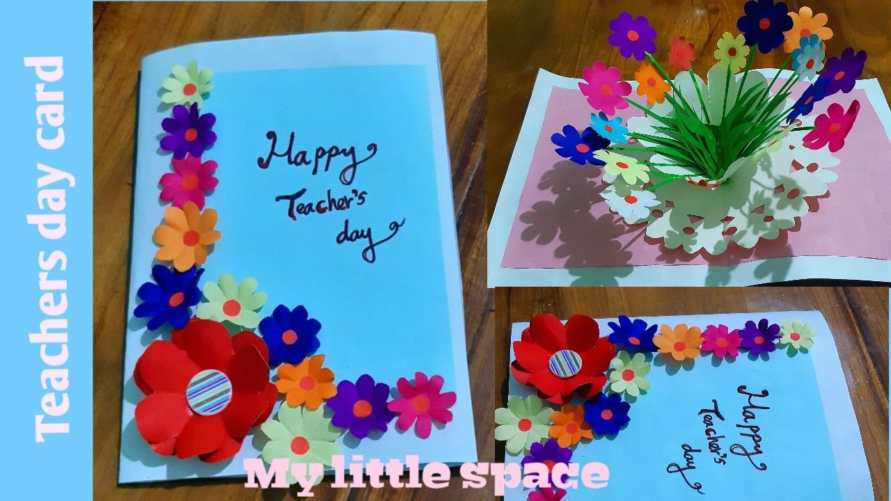 Learn How To Make Beautiful Teachers Day Card Its A Pop Up Card