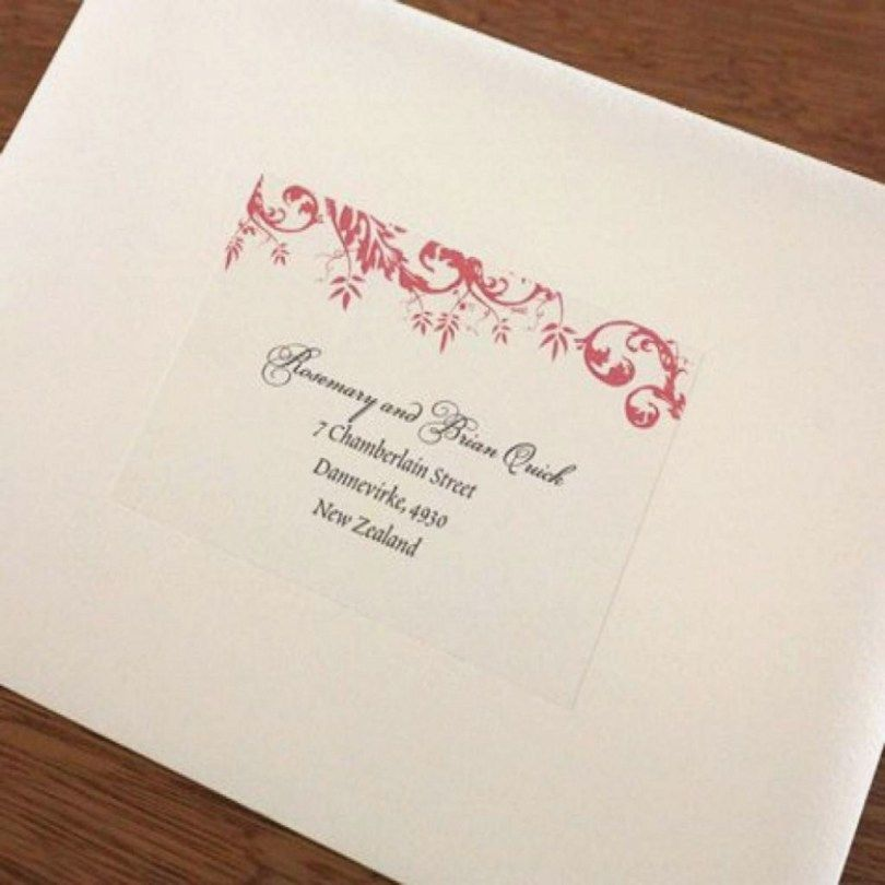Wedding Invitation Return Address