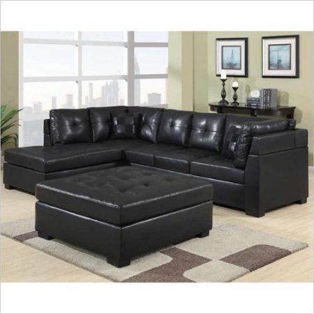 Coaster Darie Leather Sectional Sofa With Left Side Chaise In