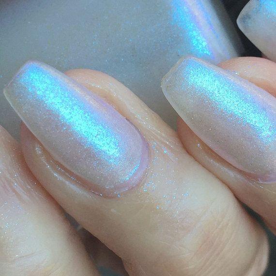 Galactic opal effect nail polish by PromisePolish on Etsy