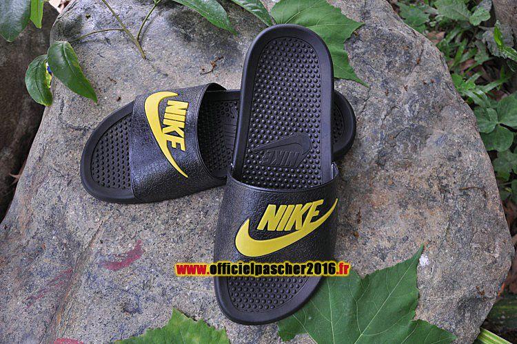 Officiel Nike sandales Benassi JDI QS Nike sandales Nike Pas Cher Pour Homme Noir 8d8468