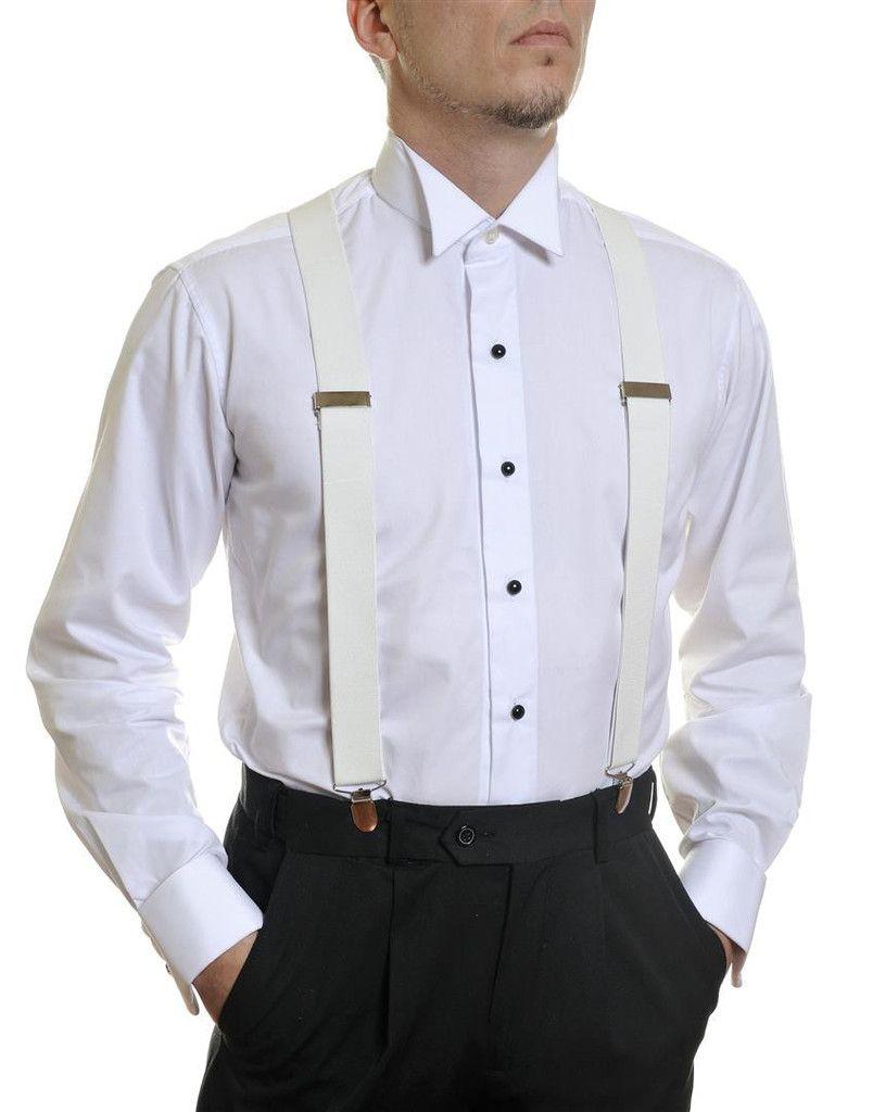 White Dress Braces