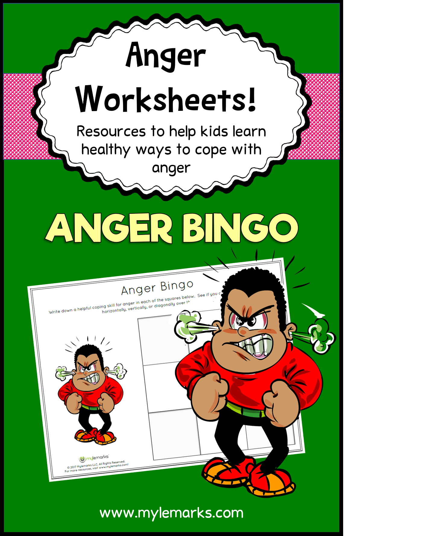 Make Anger Management Fun With This Bingo Worksheet From